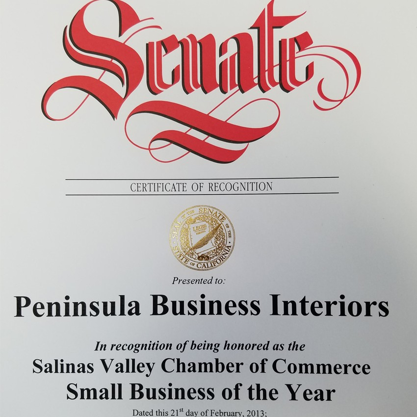 Salinas Chamber Small Business of the Year 2013