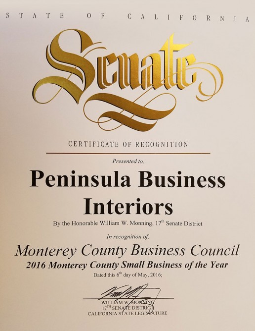 Monterey County Business Council Small Business of the Year 2016